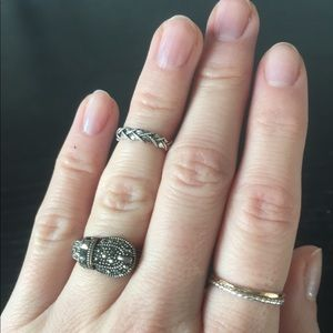 Jewelry - 🎄GIFT IDEA: Buckle Sterling Silver Marcasite Ring